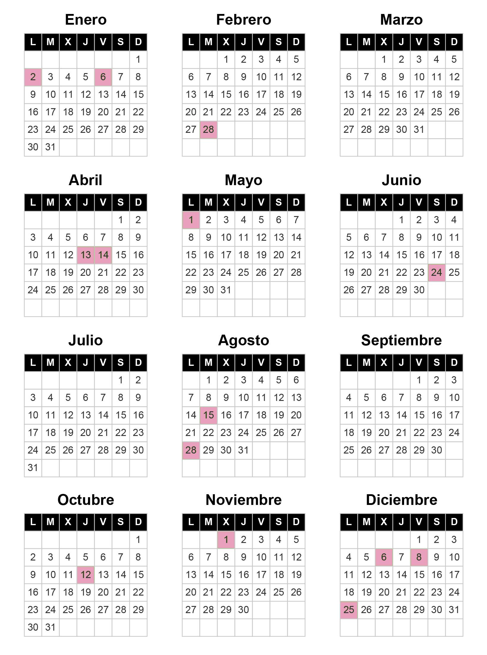 Calendario Laboral de Almería 2017